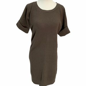 FRENCH CONNECTION Cotton/Wool Brown Sweater Dress